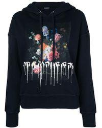 Alexander McQueen - Floral Paint Drip Hoodie - Lyst