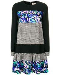 Emilio Pucci - Mix-printed Flared Dress - Lyst