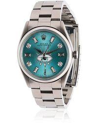 Jacquie Aiche - Blue Rolex Eye Diamond Stainless Steel Watch - Lyst