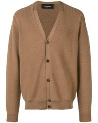 DSquared² - Ribbed Knit Cardigan - Lyst