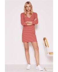 The Fifth Label - Essay Stripe Long Sleeve Dress - Lyst