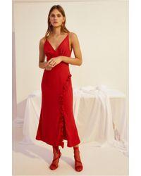 622dc06b5772 Keepsake Hurricane Slip Dress in Red - Lyst