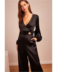 0a024099765c Lyst - Finders Keepers Aspects Long Sleeve Jumpsuit in Black