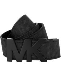 147bc754b690 ... discount code for michael kors mk hardware mens belt black lyst 0272f  c42f6