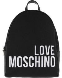 Love Moschino - Canvas Embroidery Backpack - Lyst