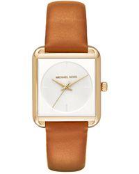 Michael Kors - Mk2584 Ladies Lake Watch Leather Gold-tone Brown - Lyst