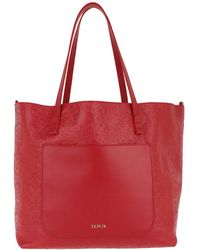 Tous - Capazo L. Mossaic Rojo Tote Red - Lyst