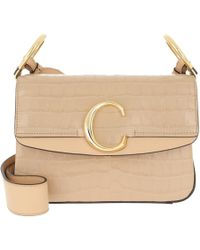 258c753a262fc Chloé Roy Small Snake Effect Leather Shoulder Bag in Brown - Lyst