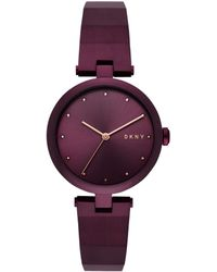 DKNY - Eastside Watch Ladies Purple - Lyst