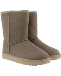 UGG - Classic Short Calf Hair Scales Oyster - Lyst