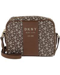 6c1e95a819d2 DKNY - Noho Camera Bag T c Chino Logo Vicuna - Lyst