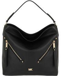 a8ea3bdd71ed Michael Kors Evie Large Leather Shoulder Bag in White - Lyst