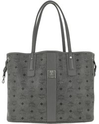 MCM - Shopper Project Visetos Reversible Shopper Medium Phantom Grey - Lyst