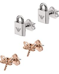 59ef47b7 Emporio Armani Ladies Pure Eagle Sterling Silver Earrings With ...