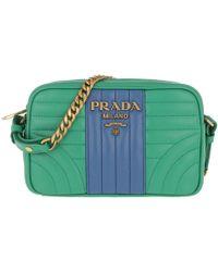 0fb71bd5ae2416 Prada - Diagramme Crossbody Bag Leather Mango/azzurro - Lyst