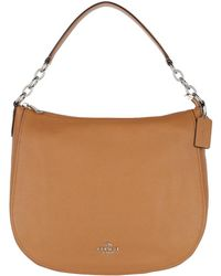 COACH | Chelsea 32 Pebbled Leather Hobo Bag Light Saddle | Lyst