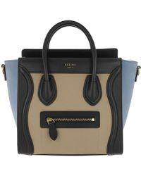 Céline - Nano Luggage Crossbody Bag Medium Blue - Lyst