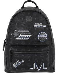 MCM - Stark Victory Patch Visetos Backpack Medium Black - Lyst