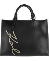 Karl Lagerfeld - K/signature Shopper Black - Lyst