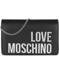 Love Moschino - Matt Nappa Pu Chain Crossbody Bag Nero - Lyst