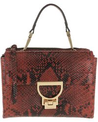 83ff056745e9a Coccinelle - Arlettis Python Shiny Handle Crossbody Bag Bourgogne - Lyst