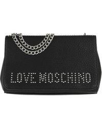 d3b990113e8e Love Moschino - Grain Crossbody Bag Nero nickel - Lyst