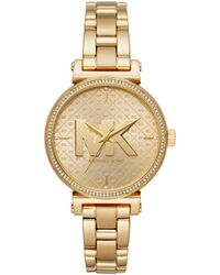 Michael Kors - Mk4334 Sofie Ladies Metals Watch Gold - Lyst