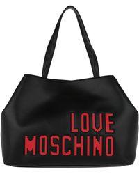 Love Moschino | Borsa Soft Shopping Back Logo Nero | Lyst