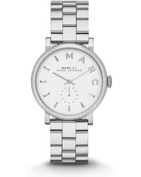 Marc Jacobs - Baker 36 Mm Stainless Steel Silver - Lyst
