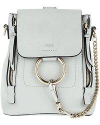 Chloé | Faye Backpack Mini Airy Grey | Lyst