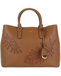 Lauren by Ralph Lauren - Dryden Marcy Satchel Bag Large Field Brown - Lyst