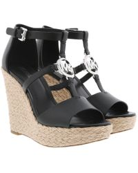 Michael Kors - Beth Wedge Black - Lyst