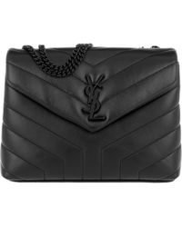 Saint Laurent Loulou L Shoulder Bag Quilted Leather Grey in Gray - Lyst 744b42ef68521