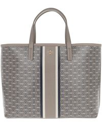 Tory Burch - Gemini Link Small Tote French Grey - Lyst