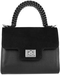 Lili Radu - Suede Miniature Bag Black/black - Lyst