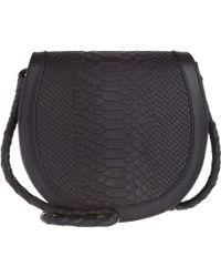 Lili Radu - Python Print Saddle Bag Black/black - Lyst
