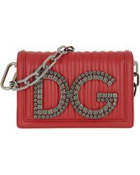 Dolce & Gabbana - Dg Girls Crossbody Bag Leather Red - Lyst