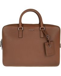 Michael Kors - Bryant Lg Briefcase Leather Luggage - Lyst