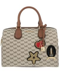 Michael Kors - Patches Mercer Duffle Bag Natural/luggage - Lyst
