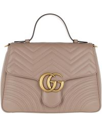Gucci - Gg Marmont Medium Top Handle Bag Rose - Lyst