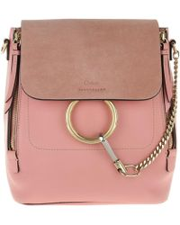 Chloé | Faye Backpack Small Washed Pink | Lyst