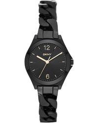 DKNY - Parsons Matte Watch Black - Lyst