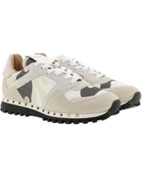 Valentino - Rockrunner Trainer Ivory Rose Grey - Lyst