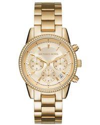 Michael Kors - Mk6356 Ladies Ritz Watch Gold-tone - Lyst