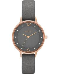 Skagen - Ladies Anita Stainless Steel Watch Grey - Lyst