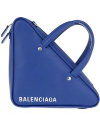 Balenciaga - Triangle Duffle Bag Xs Chain Bleu Roi - Lyst