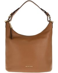 Michael Kors | Lupita Lg Hobo Leather Luggage | Lyst