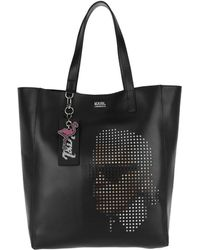Karl Lagerfeld - Yoni Alter Perforated Shopper Black - Lyst