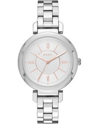DKNY - Ladies Ellington Watch Silver - Lyst