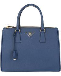 Prada - Galleria Tote Bag Saffiano Lux Bluette - Lyst